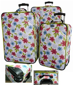 Flower Polyster Trolly bag