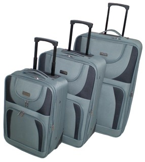 Gray EVA+Polyster Luggage bag