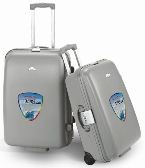 Gray Hard PE  Luggage bag