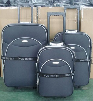 Gray Soft Polyster Luggage bag