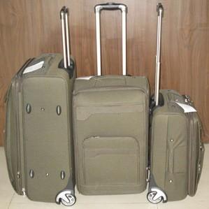 Green  EVA+Polyster Luggage bag
