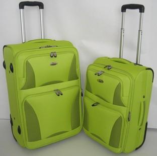 Green Polyster EVA Luggage bag