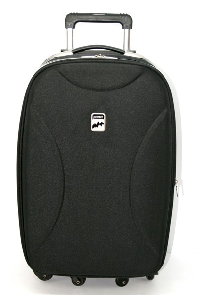 High Quality Black Leather Luggage bag