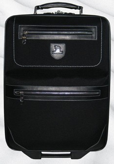 High Quality Black Polyster Luggage bag