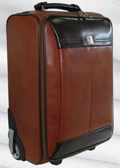 High Quality Brown Leather Luggage bag