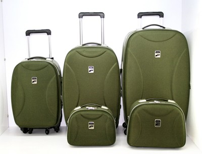 High Quality Green  Leather Luggage bag