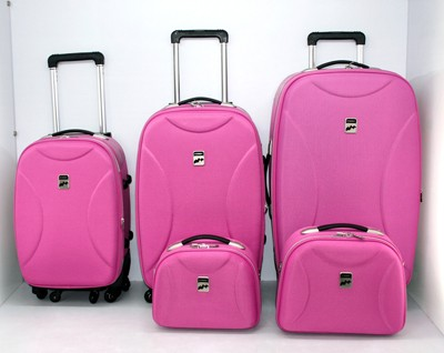 High Quality Pink Leather Luggage bag