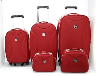 High Quality Red Leather Luggage bag