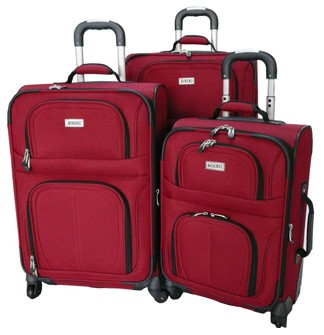 High Red EVA Polyster Trolly bag