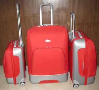 Orange EVA+Polyster Luggage bag