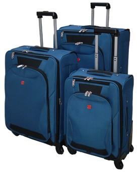 Polyster Soft Blue Luggage bag
