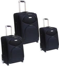 Quality Black  Polyster EVA Luggage bag