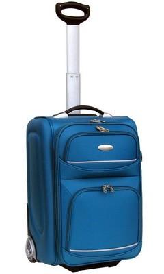 Quality Blue  Polyster EVA Luggage bag