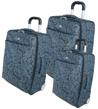 Quality Blue Polyster Leather  Trolly bag