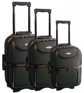 Quality Green Polyster EVA Luggage bag
