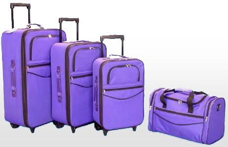 Quality Soft  Purple Polyster Trolly bag