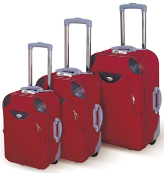 Red EVA Polyster Luggage bag