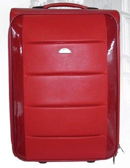 Red Leather  Luggage bag