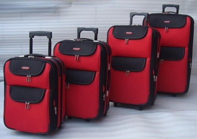 Red Polyster  Luggage bag