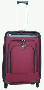 Red Polyster Soft Luggage bag