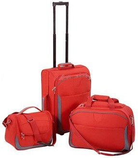Red Soft Polyster  Luggage bag