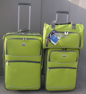 Yellow  Polyster  Luggage bag