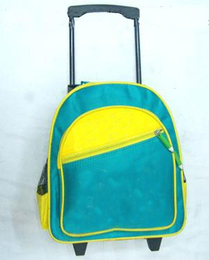 Blue School Backpack With Trolly