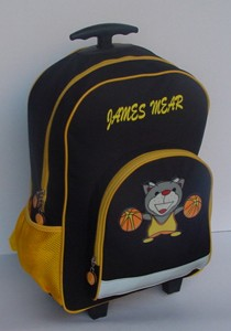 Cool 600D boy's School Backpack With Trolly