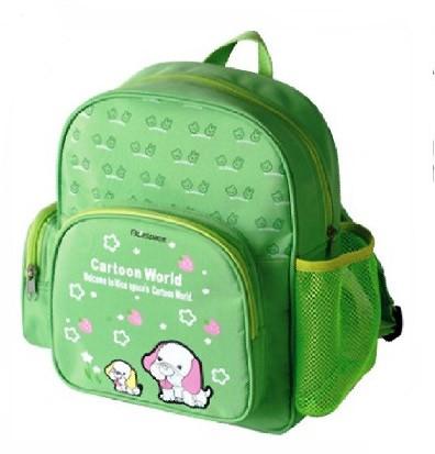 Green Canvas School Backpack