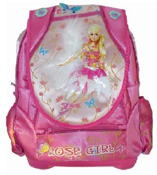 Pink 600D School Backpack