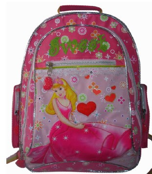 Pink Canvas School Backpack