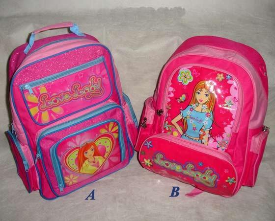 Pink Kid's School Student Bag