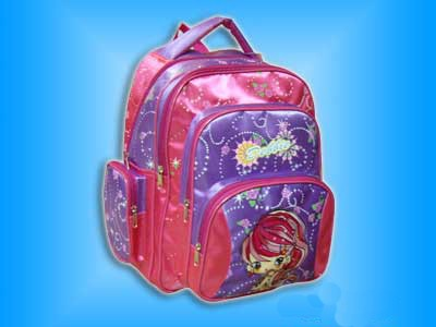 Pink School Backpack With Trolly