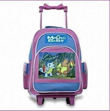 Purple Canvas School Backpack