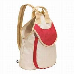 White 600D School Backpack