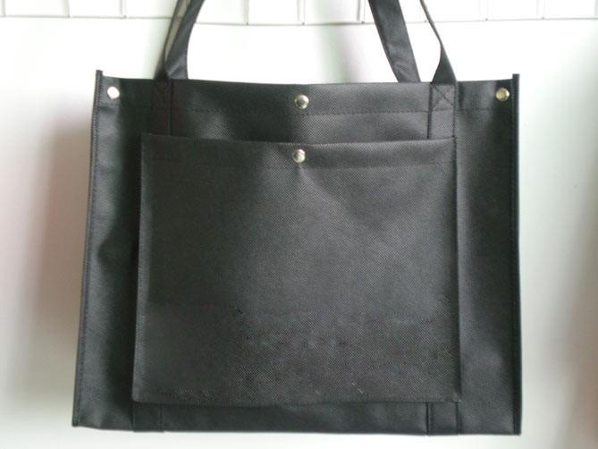 Black  80GSM Non Wonven Shopping bag