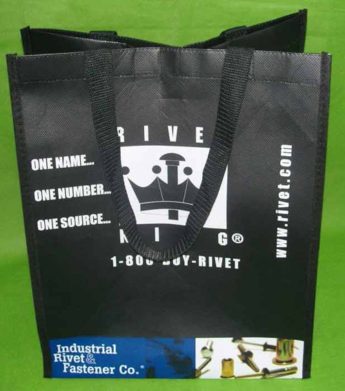 Black  Flower Non Woven Shopping bag