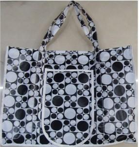 Black Non Woven Fashion Shopping bag