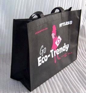Black Non Woven Shopping bag