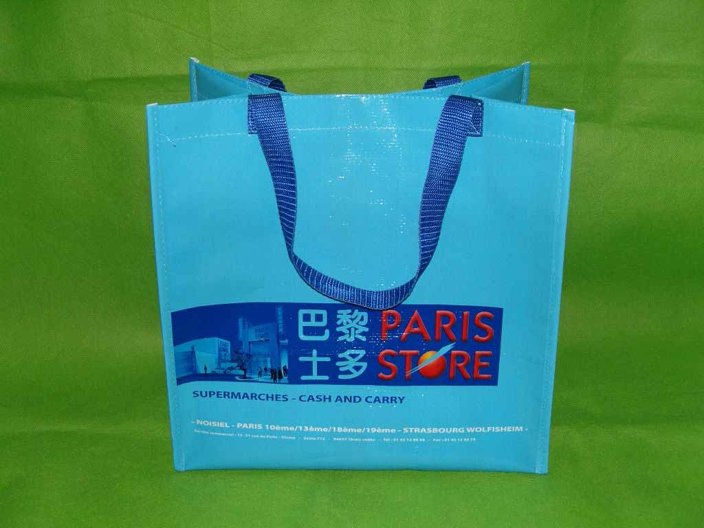 Blue  PP woven bag With Lamation