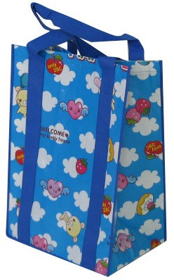 Blue Non Woven  Shopping bag With Lamation
