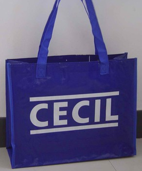 Blue Non-woven bag With Lamation