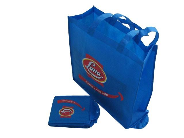 Blue foldable Non Woven Shopping bag