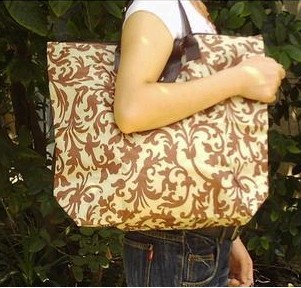Brown Big  Shopping bag