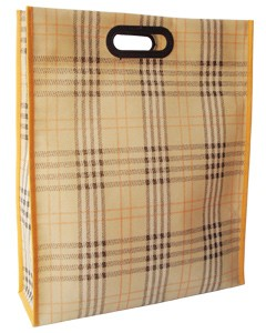 Brown Non Woven  Shopping bag With Lamation