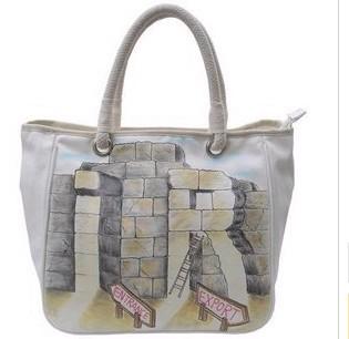 Fashion Wihte Cotton  Shopping bag