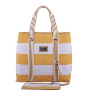 Fashion Yellow  Cotton  Shopping bag