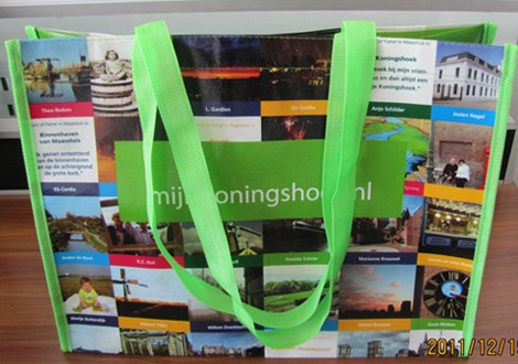 Green  Non-woven bag With Matt Lamation