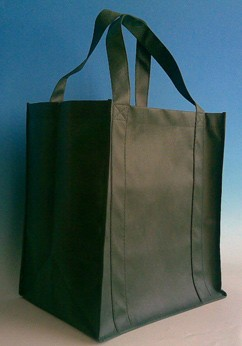 Green  Polyster Fashion Shopping bag