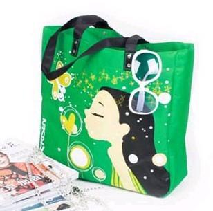 Green Non Wove Shopping bag